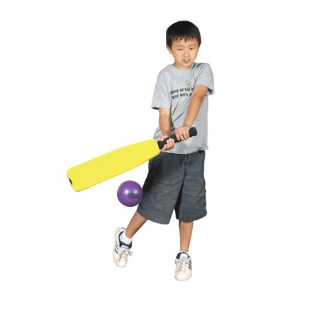 Sportime Foam Round-N-Flat Baseball Bat, 26 x 4-1/2 Inches, Yellow