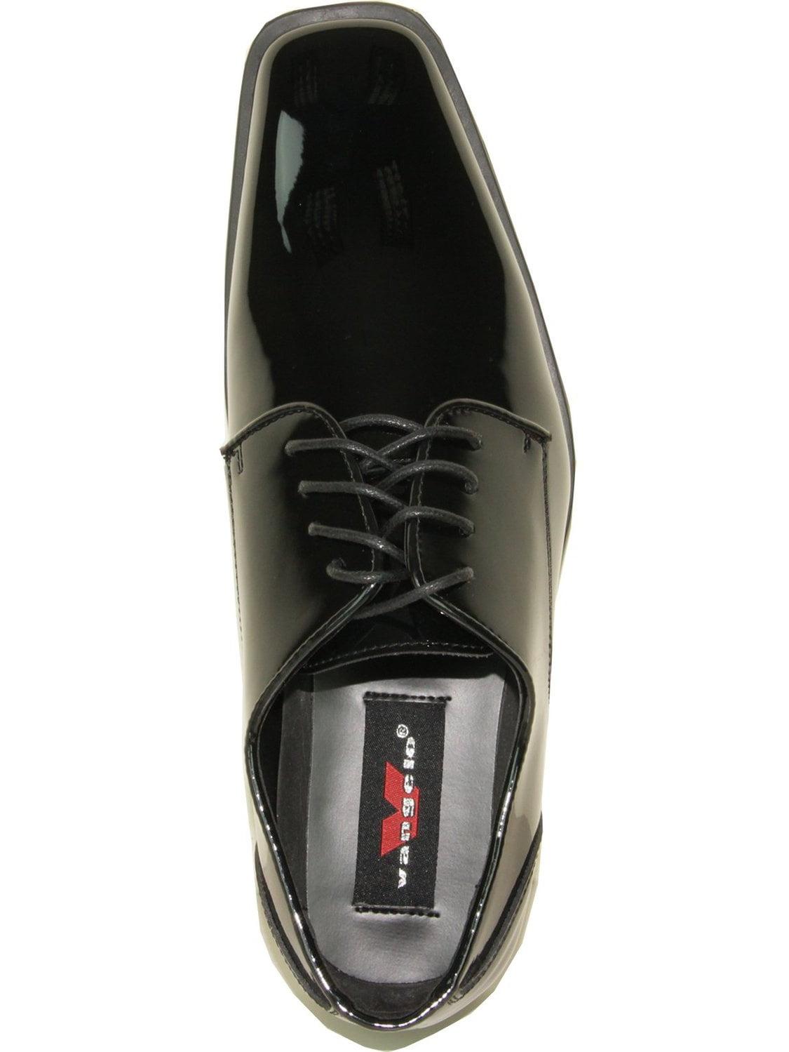 Bravo VANGELO Men Tuxedo Shoe Tux-5 Square Toe for Wedding School Uniform /& Formal Event Iron Grey