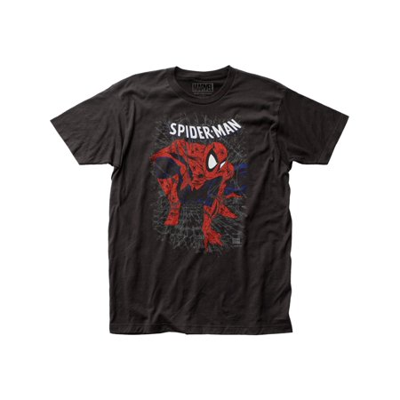 spider-man tangled web adult fitted jersey t-shirt tee (Spiderman For Adults)
