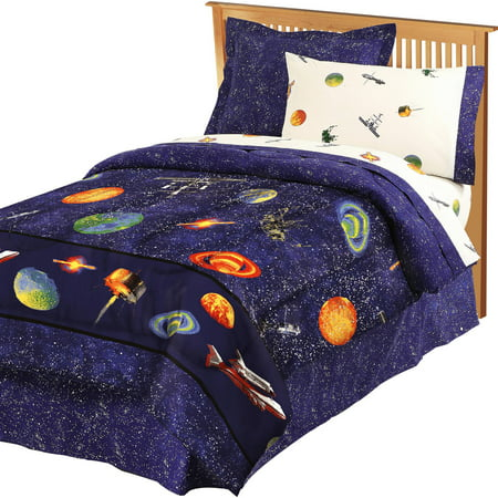 My room outer space bed in a bag for Outer space bedding