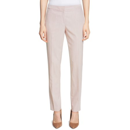 Tommy Hilfiger Womens Slim-Fit Pinstriped Dress Pants