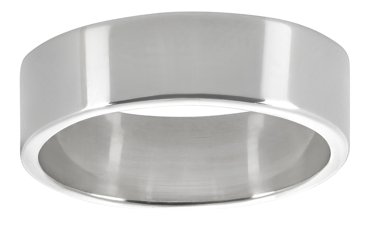 Bonus Polishing Cloth 925 Sterling Silver Italian Crafted Channel Set Square-Cut CZ 5.7mm Wedding Band