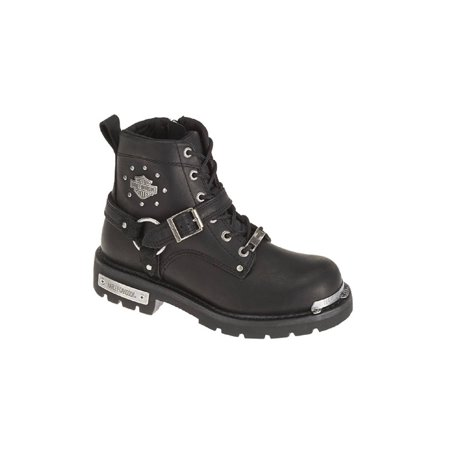 Leather Motorcycle Boots (Harley-Davidson Women's Becky 5.5-Inch Black Leather Motorcycle Boots. D87048, Harley Davidson )
