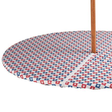 American Stars Zippered Elasticized Umbrella Table Cover ()