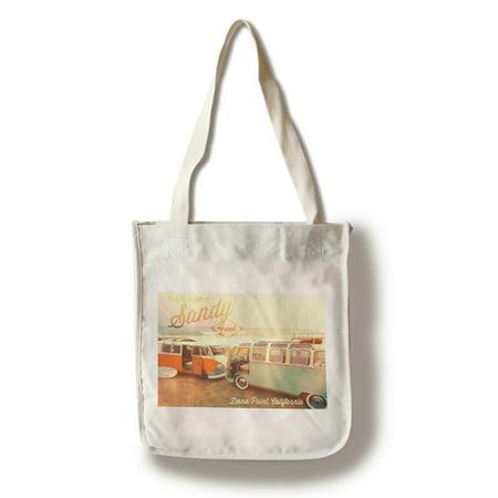 Dana Point, California - Peace, Love, & Sandy Feet - Lantern Press Photography (100% Cotton Tote Bag - Reusable)