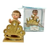 "Gender Reveal Prince and Princess Baby Shower Party Favor 2 Figurines Keepsake Decoration 3"" H"