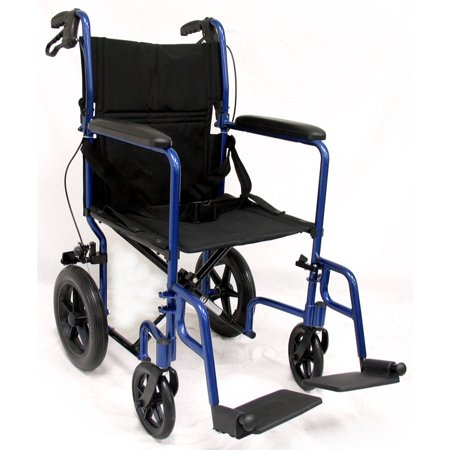 Karman LT-1000HB Lightweight Transport Chair with Companion Brakes,