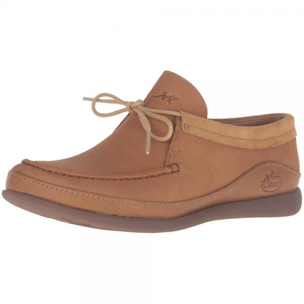 chaco women's pineland moc-w hiking shoe, bone brown, 10 m us by