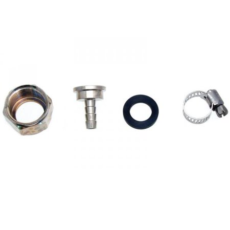 "Beer Line Connector Kit for 3/16"" ID Vinyl Hose - Chrome Plated Brass"