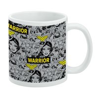 Wonder Woman Warrior Pattern White Mug