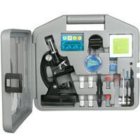 AmScope AMSCOPE-KIDS 120X-240X-300X-480X-600X-1200X Metal Arm Kids Children Biological Microscope Kit New
