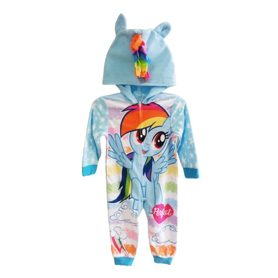 AME - My Little Pony Rainbow Dash Girls Fleece Blanket Sleeper ... 27e2742e3