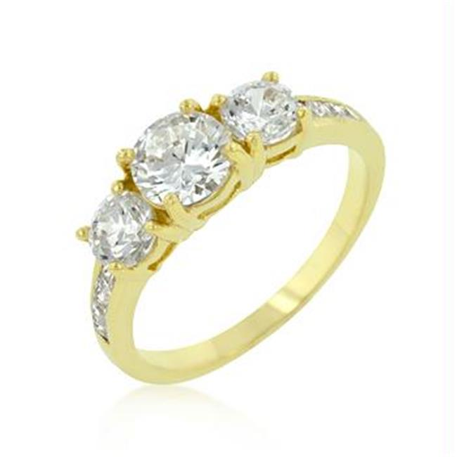 Triplet Golden Wedding Ring, <b>Size :</b> 10