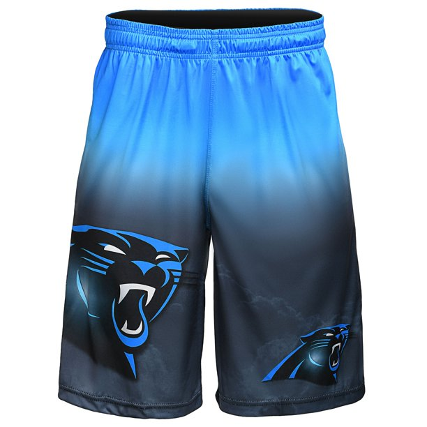 Carolina Panthers Gradient Big Logo Training Shorts - Black