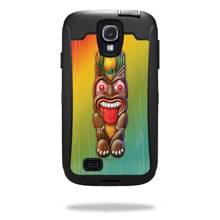 Skin For OtterBox Defender Samsung Galaxy S4 Case – Tiki Man | MightySkins Protective, Durable, and Unique Vinyl Decal wrap cover | Easy To Apply, Remove, and Change Styles | Made in the USA - Tiki Man
