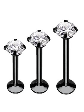 3PC Labret Stud Tragus Earring Set 16G Surgical Steel Helix Monroe Cartilage Piercing Jewelry