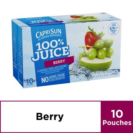 Capri Sun 100% Berry Juice, 6 fl oz Box