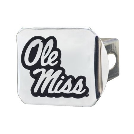 University of Mississippi (Ole Miss)Hitch Cover - Chrome3.4