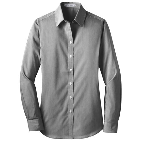 Port Authority Women's 7-Button Placket Poplin Shirt