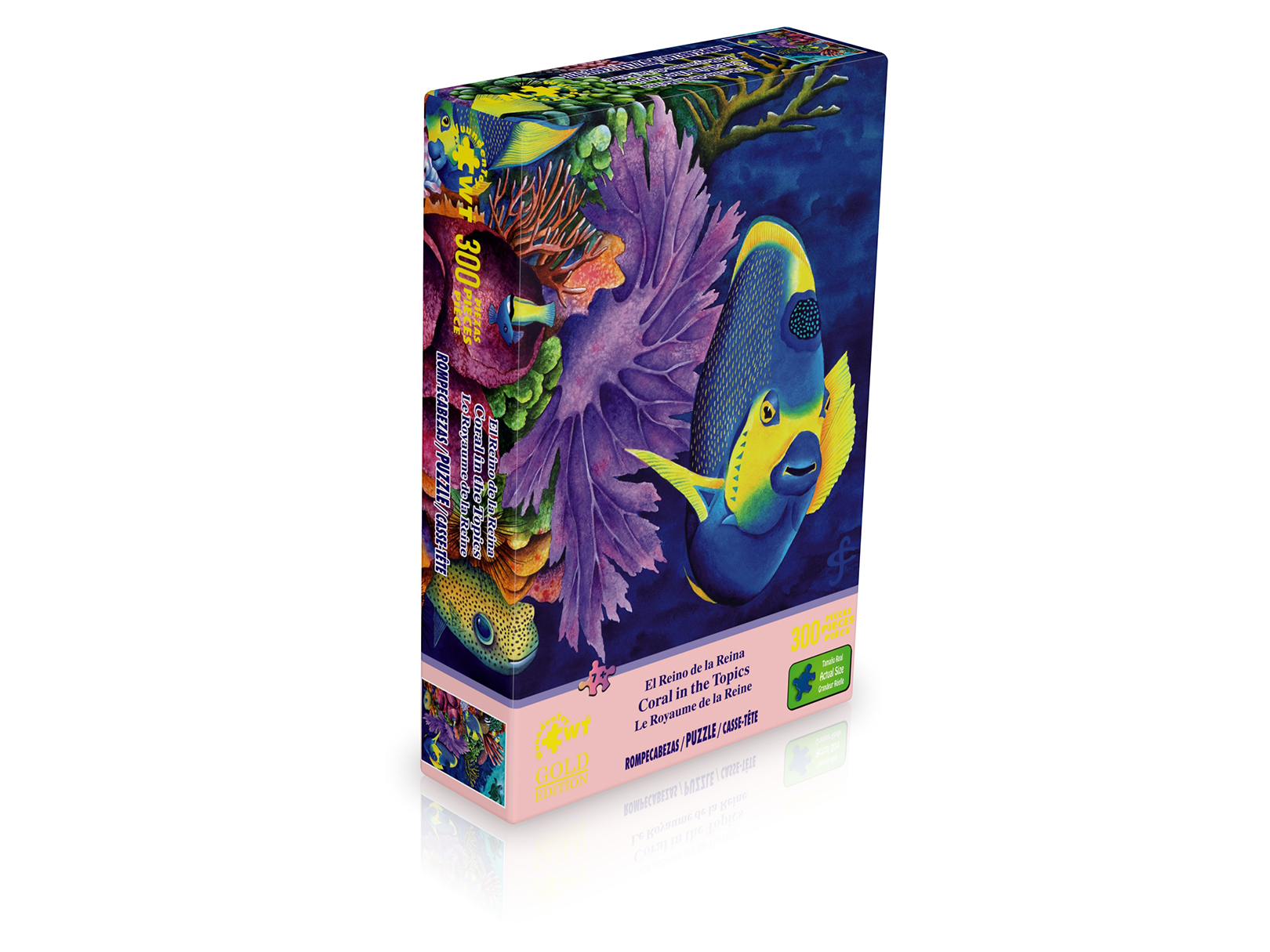 """Jigsaw Puzzle 300 Pieces Gold Edition /""""Coral in The Topics/"""" by Wuundentoy"""
