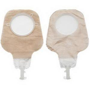 New Image 2-Piece High Output Drainable Pouch   2-3/4'', Ultra Clear - Box of 10