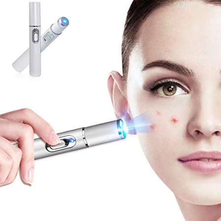 Portable Anti-varicose Veins Face Acne Removal Pen Blue Light Machine Scar Blemishes Pimples Removal Therapy Machine