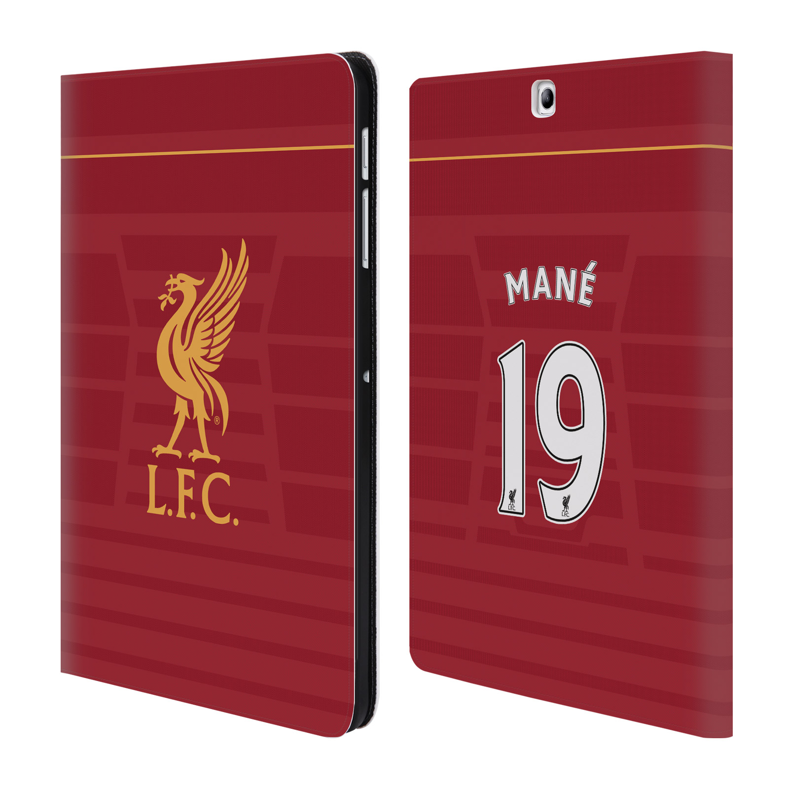 OFFICIAL LIVERPOOL FOOTBALL CLUB PLAYERS HOME KIT 16/17 GROUP 2 LEATHER BOOK WALLET CASE COVER FOR SAMSUNG GALAXY TABLETS