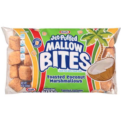 Kraft Jet-Puffed Mallow Bites Toasted Coconut Marshmallows, 8 oz