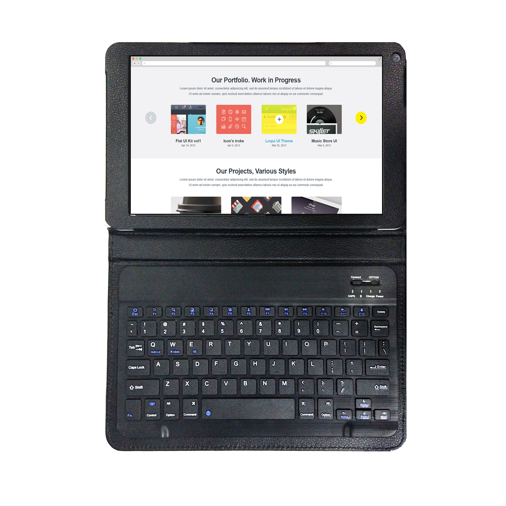 "Azpen Innovation 10"" 4G LTE 32GB Android 6.0 Tablet with Bluetooth Keyboard & Case G1058A"