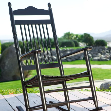Dixie Seating Indoor/Outdoor Spindle Rocking Chair - Black ...