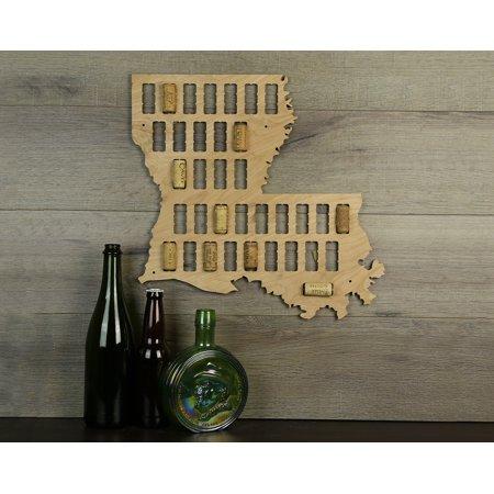 Wine Cork Traps State of Louisiana Wooden Wine Cork Holder Organizer Wall Decoration ()