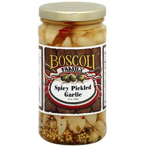 Boscoli Family Spicy Pickled Garlic, 12 oz (Pack of 12)