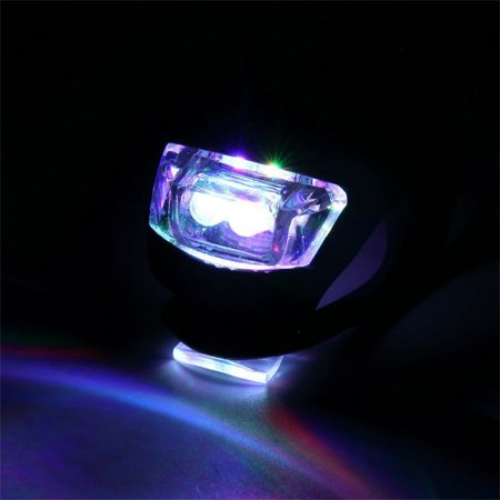 HC-TOP LED Bicycle Bike Cycling Silicone Head Front Rear Wheel Safety Light Lamp - image 3 of 6
