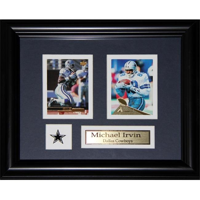 Midway Memorabilia Michael Irvin Dallas Cowboys 2 Card Frame