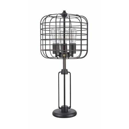 Aspen Creative 40086, Wire Cage Metal Table Lamp, Vintage