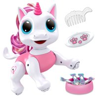 Robo Pets Unicorn Toy Robot Pet - Remote Control Robot Toy, Smart RC Robot Unicorn Gifts for Girls