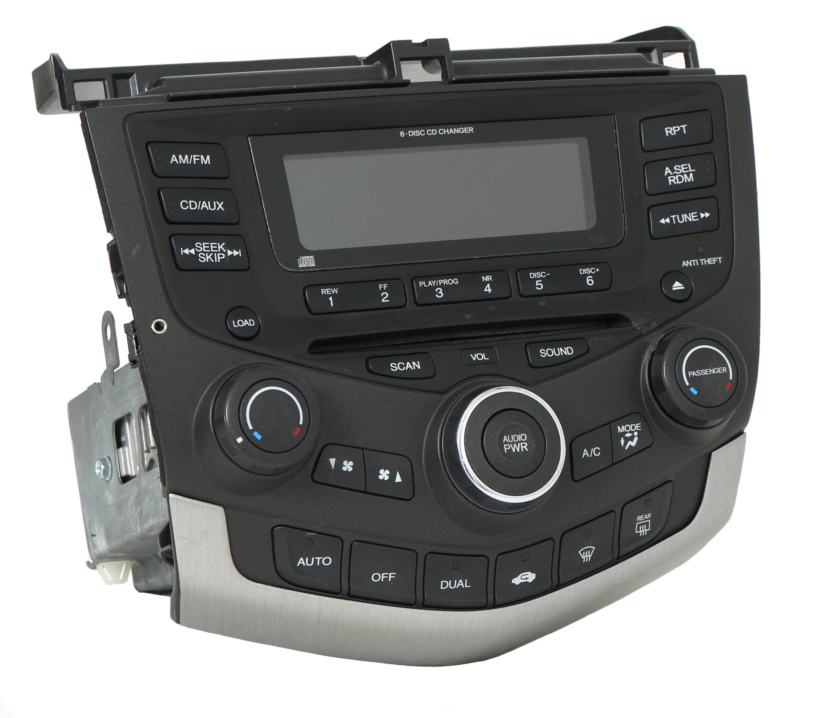 Honda Accord 2003-07 Radio AM FM 6 CD w Aux Input Temp Ctrls 39175-SDN-A110  7BY0 - Refurbished - Walmart.com
