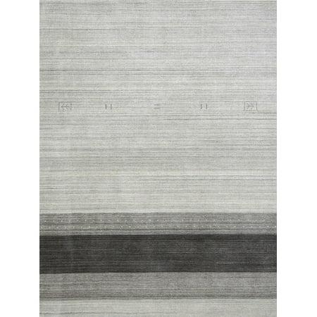 Blend Light Gray 4 ft. x 6 ft. Rectangle Area Rug