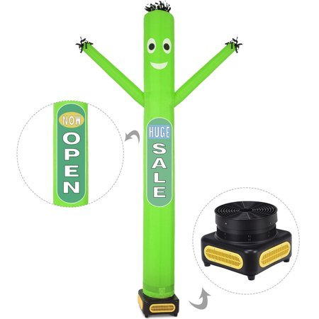 Costway 10ft Inflatable Dancer Puppet Tube Man Removable Slogans With Blower Green