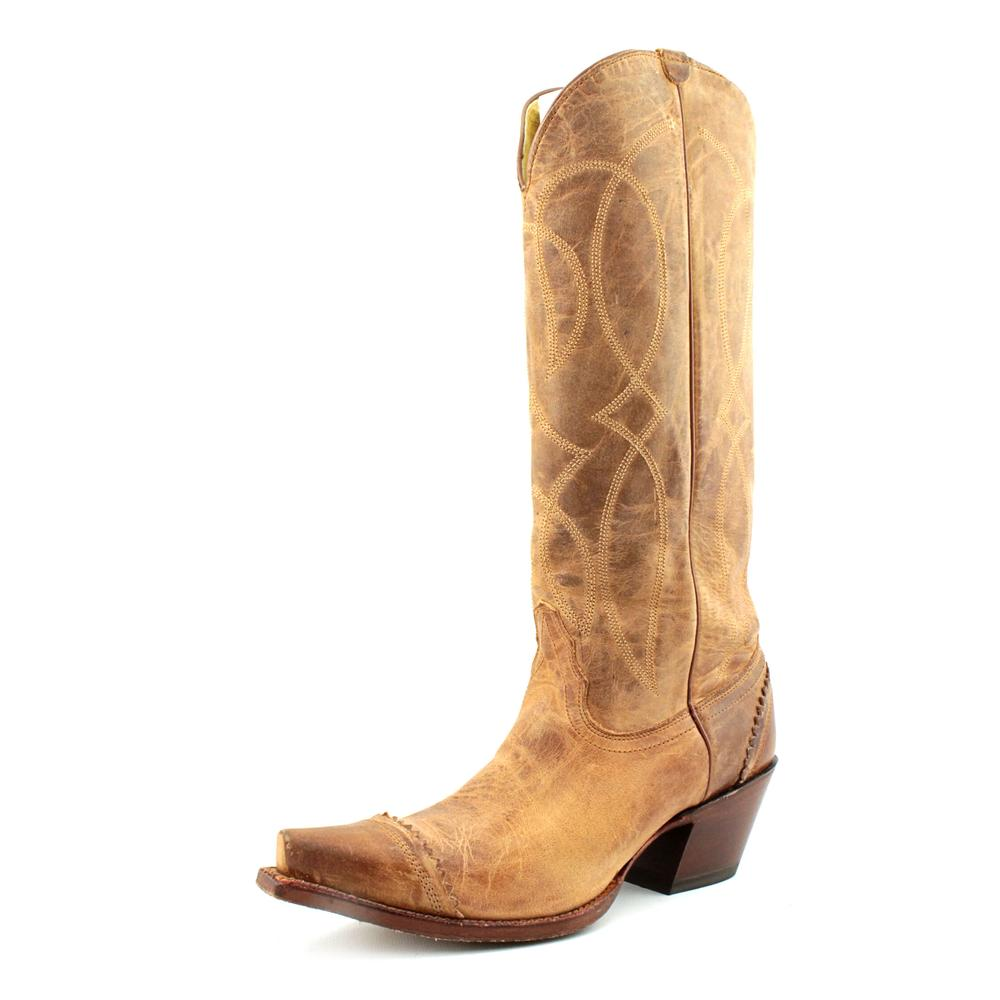 Tony Lama VF3034 Women  Pointed Toe Leather Tan Western Boot