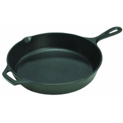 "Lodge Logic 15"" Seasoned Cast Iron Skillet, L14SK3, with assist handle by Lodge Mfg Co"