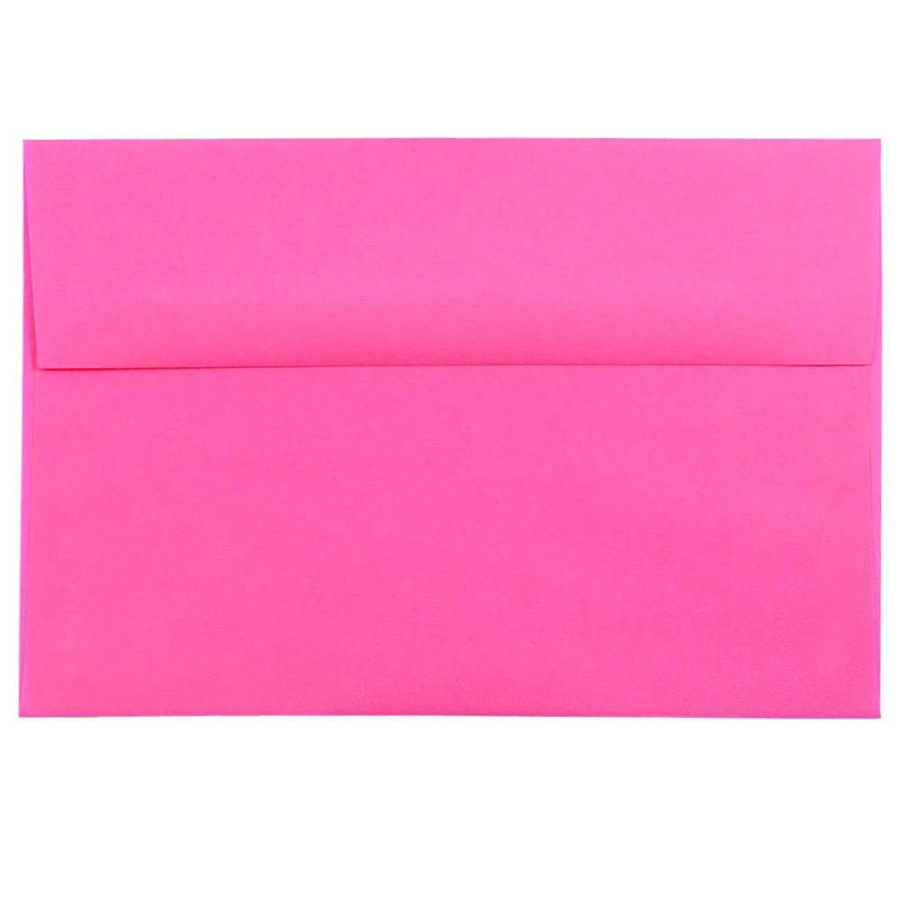 JAM Paper A8 Invitation Envelope, 5 1/2 x 8 1/8, Brite Hue Ultra Fuchsia Hot Pink, 250/pack
