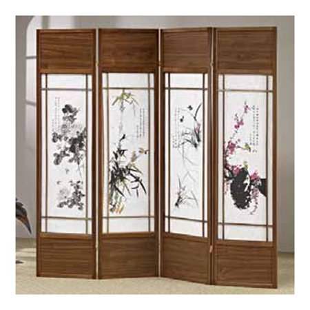 4 Panel Screen China - Wildon Home  70'' x 68'' Shoji 4 Panel Room Divider