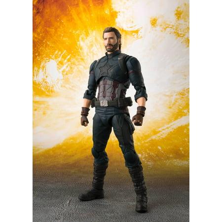 S.H. Figuarts Avengers Infinity War Captain America & Tamashii Effect Explosion Action Figure - Captain America Avengers