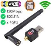MeAddHome USB WiFi Dongle Adapter Wireless LAN Network For Laptop PC 150Mbps 802.11b/g/n