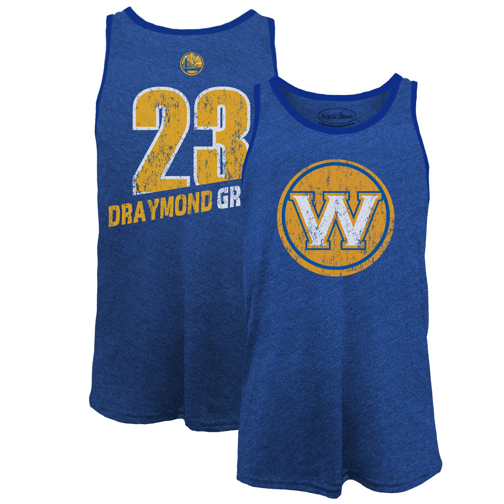 Draymond Green Golden State Warriors Majestic Threads Name & Number Tri-Blend Tank Top - Royal