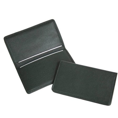 Slim Business Card Case in Genuine Leather Burgundy Leather Presentation Case