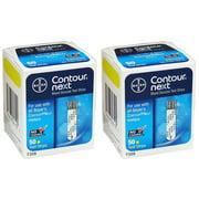 Contour-Next Bayer Blood Glucose Test Strips, 100 Count, Plastic By ContourNext