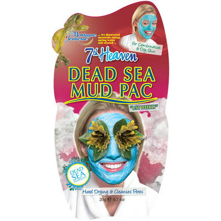 7th Heaven Dead Sea Mud Pac Face Mask Opens Blocked Pores 0.7 oz.