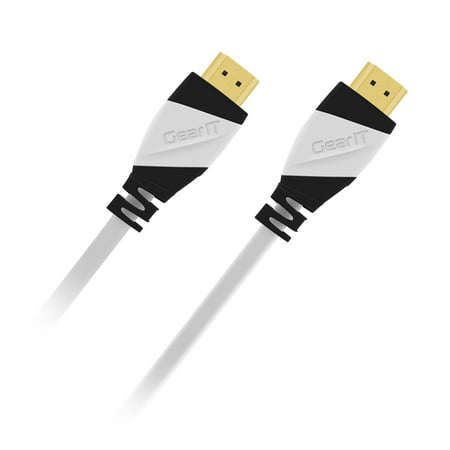 HDMI 2.0 Cable, High-Speed HDMI Cable, GearIT (2 PK) (15 Feet/4.57 Meters) 4K 60Hz 28AWG 18Gbps Gold Plated Ethernet Audio Return Video 4K 2160p HD 1080p 3D Xbox PlayStation PS3 PS4 PC Apple TV White